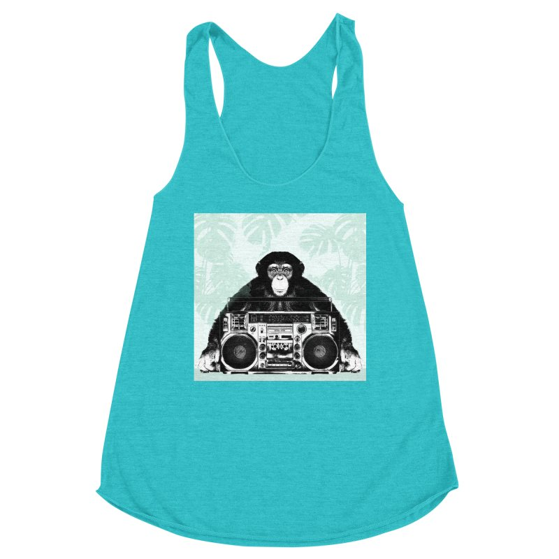 Jungle Music Women's Racerback Triblend Tank by Vin Zzep's Artist Shop