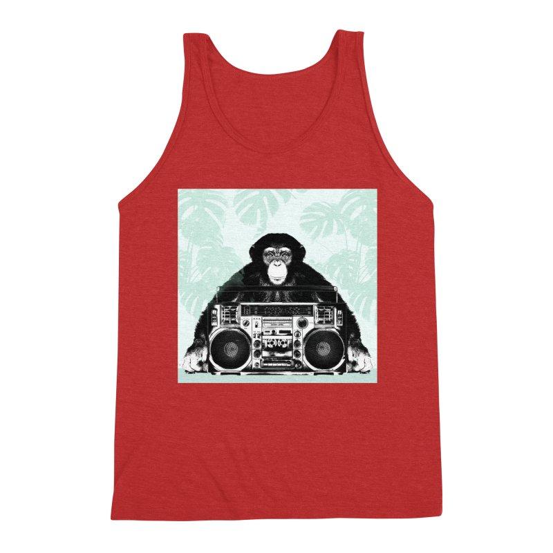 Jungle Music Men's Triblend Tank by Vin Zzep's Artist Shop