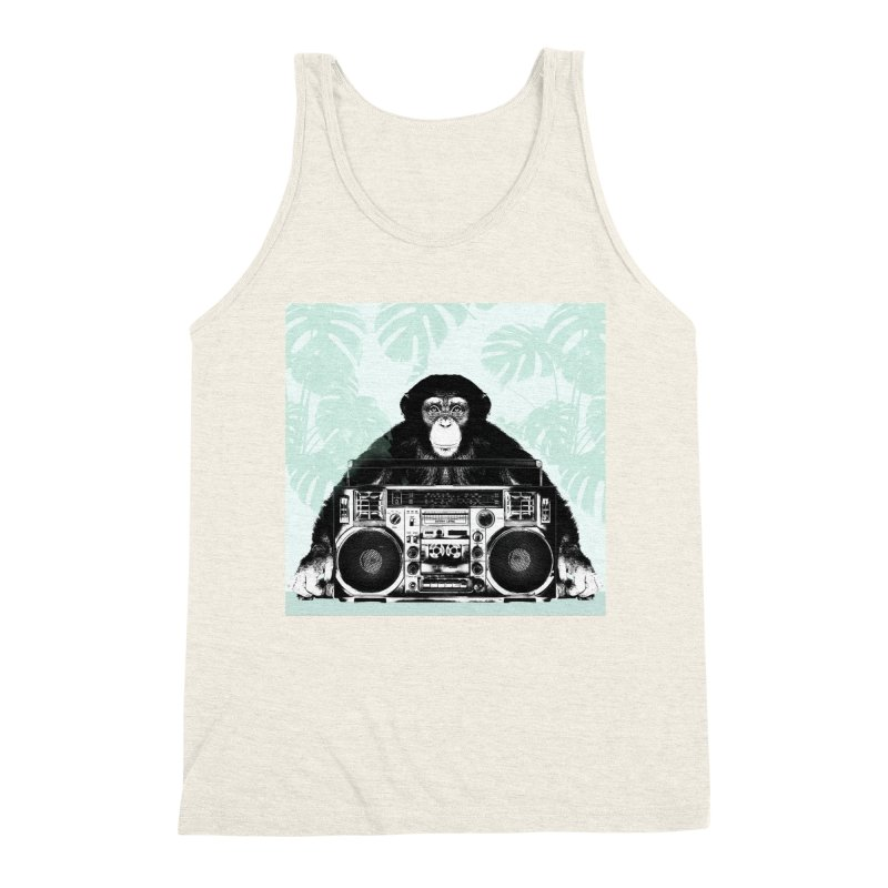 Jungle Music Men's Triblend Tank by Vin Zzep's Artist Shop