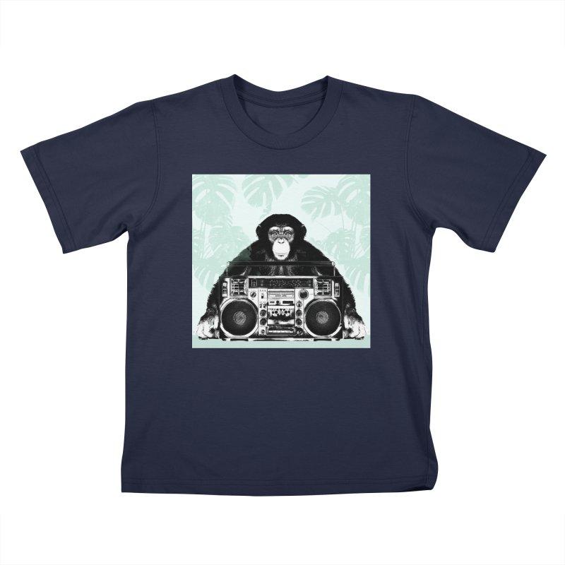 Jungle Music Kids Toddler T-Shirt by Vin Zzep's Artist Shop