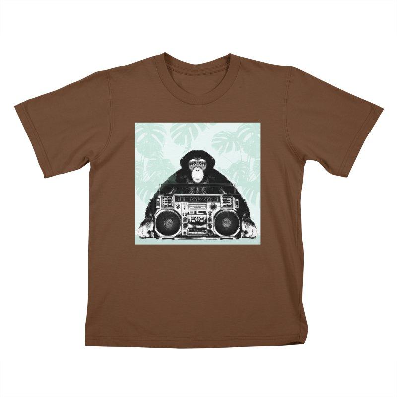 Jungle Music Kids T-Shirt by Vin Zzep's Artist Shop