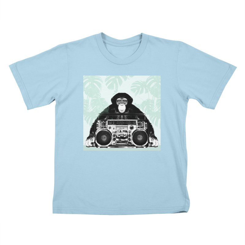 Jungle Music Kids T-Shirt by Vin Zzep's Artist Shop