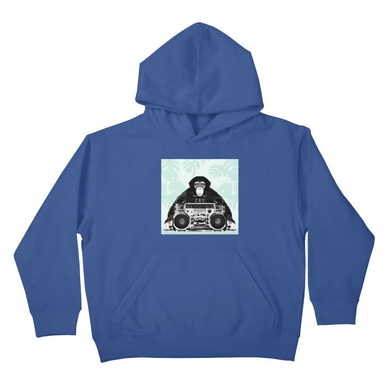 Jungle Music Kids Pullover Hoody by Vin Zzep's Artist Shop