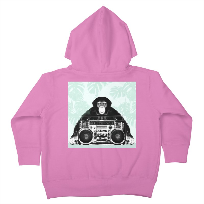 Jungle Music Kids Toddler Zip-Up Hoody by Vin Zzep's Artist Shop