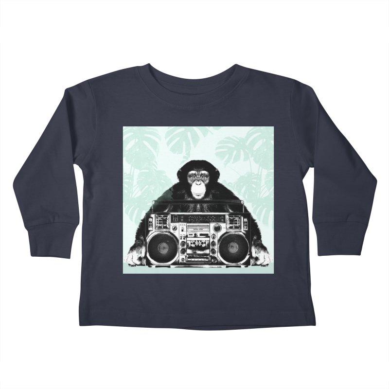 Jungle Music Kids Toddler Longsleeve T-Shirt by Vin Zzep's Artist Shop