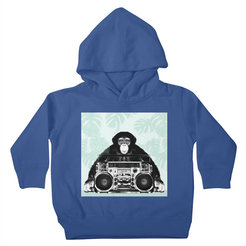 Jungle Music Kids Toddler Pullover Hoody by Vin Zzep's Artist Shop