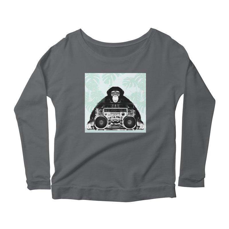 Jungle Music Women's Scoop Neck Longsleeve T-Shirt by Vin Zzep's Artist Shop