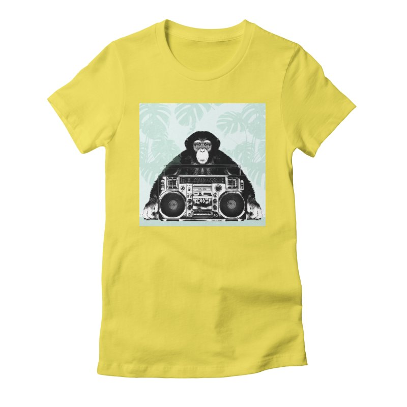 Jungle Music Women's Fitted T-Shirt by Vin Zzep's Artist Shop
