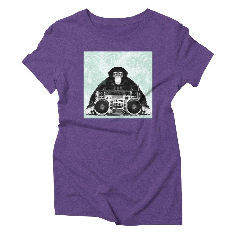 Jungle Music Women's Triblend T-Shirt by Vin Zzep's Artist Shop