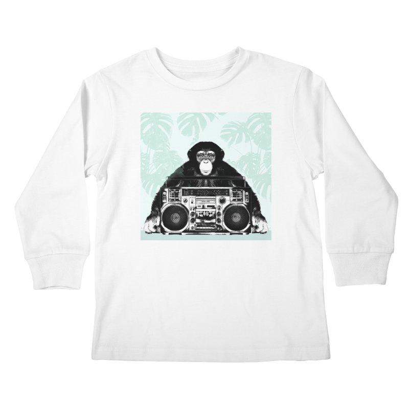 Jungle Music Kids Longsleeve T-Shirt by Vin Zzep's Artist Shop