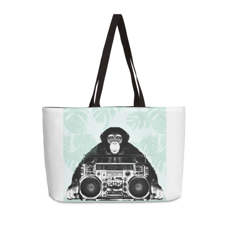 Jungle Music Accessories Weekender Bag Bag by Vin Zzep's Artist Shop