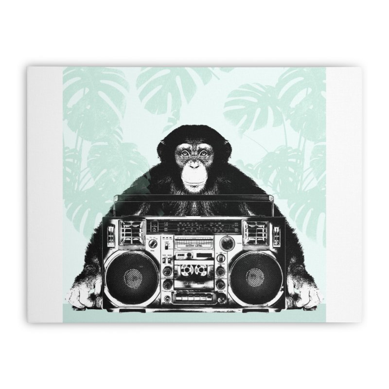 Jungle Music Home Stretched Canvas by Vin Zzep's Artist Shop