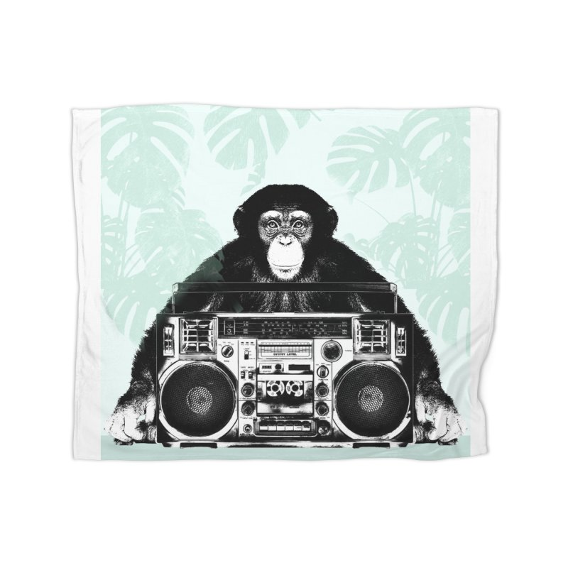 Jungle Music Home Fleece Blanket Blanket by Vin Zzep's Artist Shop