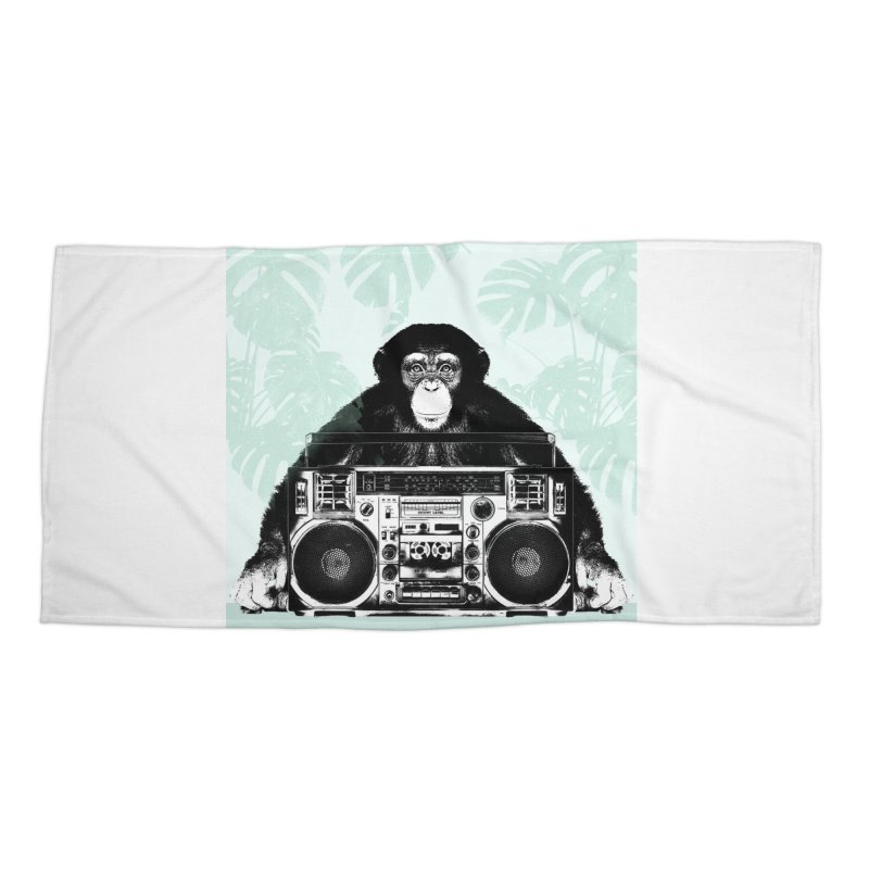 Jungle Music Accessories Beach Towel by Vin Zzep's Artist Shop