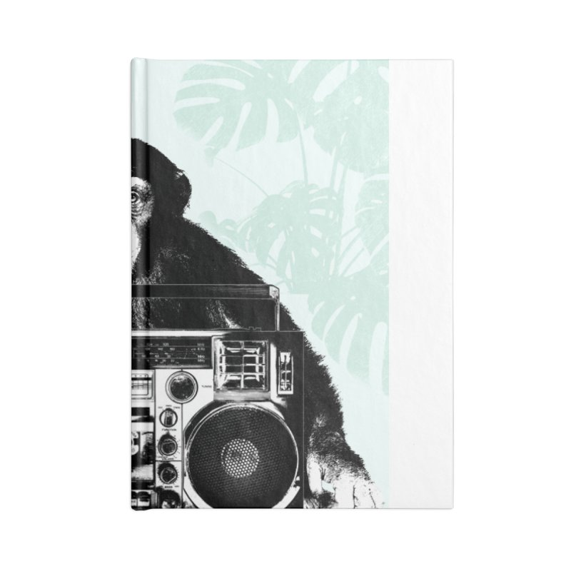 Jungle Music Accessories Lined Journal Notebook by Vin Zzep's Artist Shop