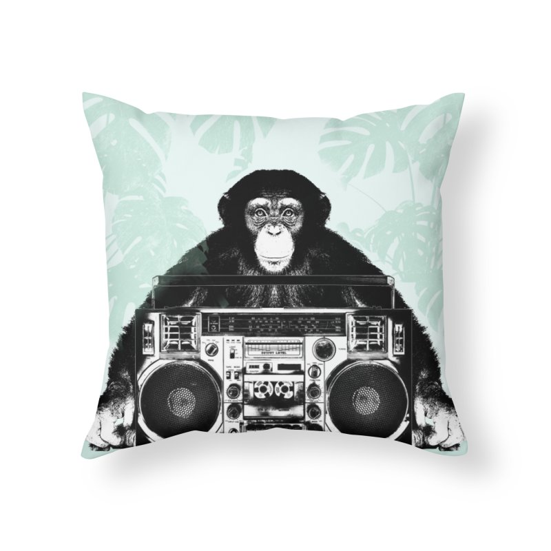 Jungle Music Home Throw Pillow by Vin Zzep's Artist Shop