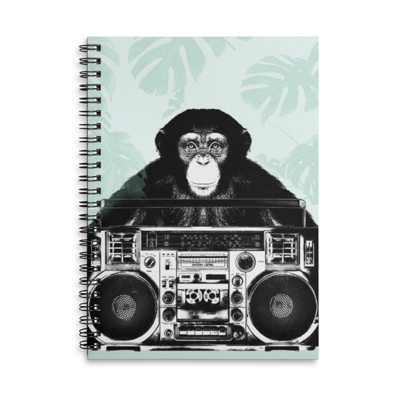 Jungle Music Accessories Lined Spiral Notebook by Vin Zzep's Artist Shop