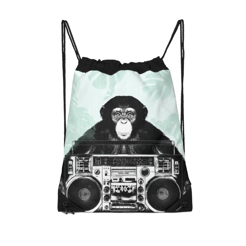 Jungle Music Accessories Drawstring Bag Bag by Vin Zzep's Artist Shop