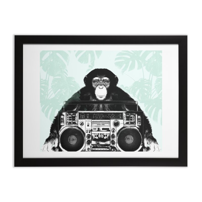 Jungle Music Home Framed Fine Art Print by Vin Zzep's Artist Shop