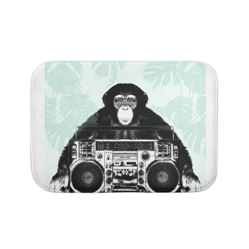 Jungle Music Home Bath Mat by Vin Zzep's Artist Shop