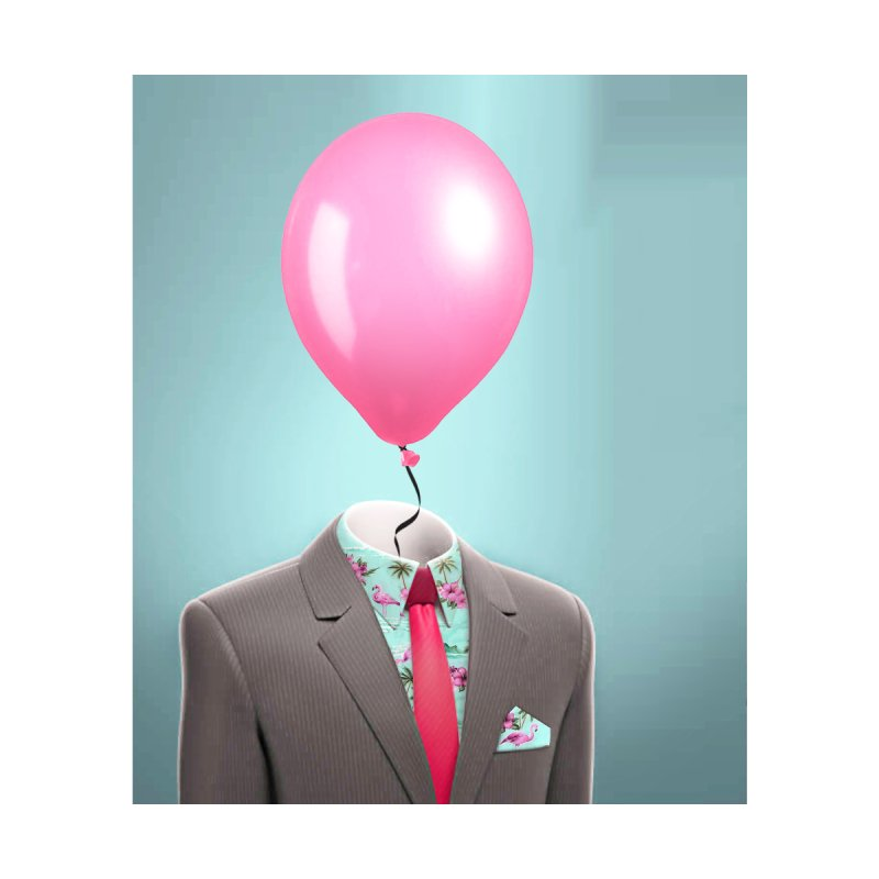 Balloon head and Flamingo shirt Home Mounted Acrylic Print by Vin Zzep's Artist Shop