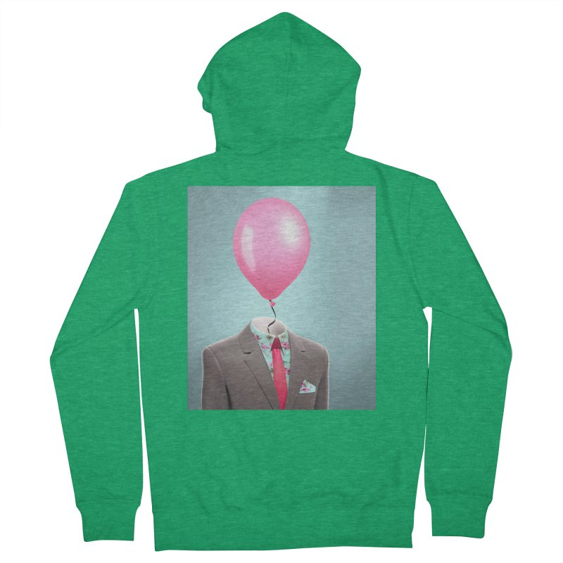 Balloon head and Flamingo shirt Men's Zip-Up Hoody by Vin Zzep's Artist Shop