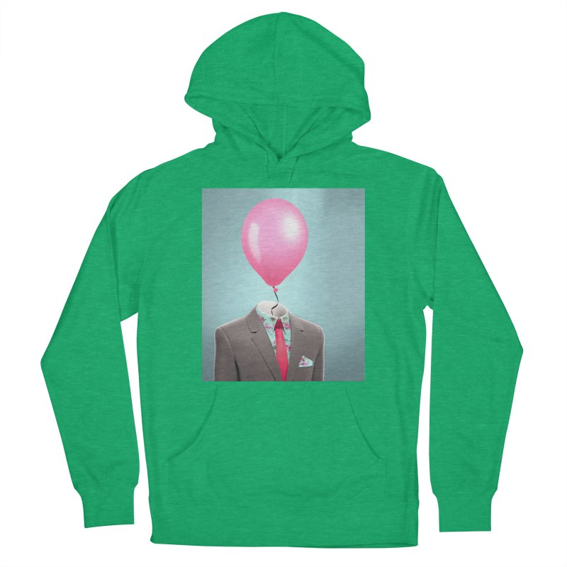 Balloon head and Flamingo shirt Men's French Terry Pullover Hoody by Vin Zzep's Artist Shop