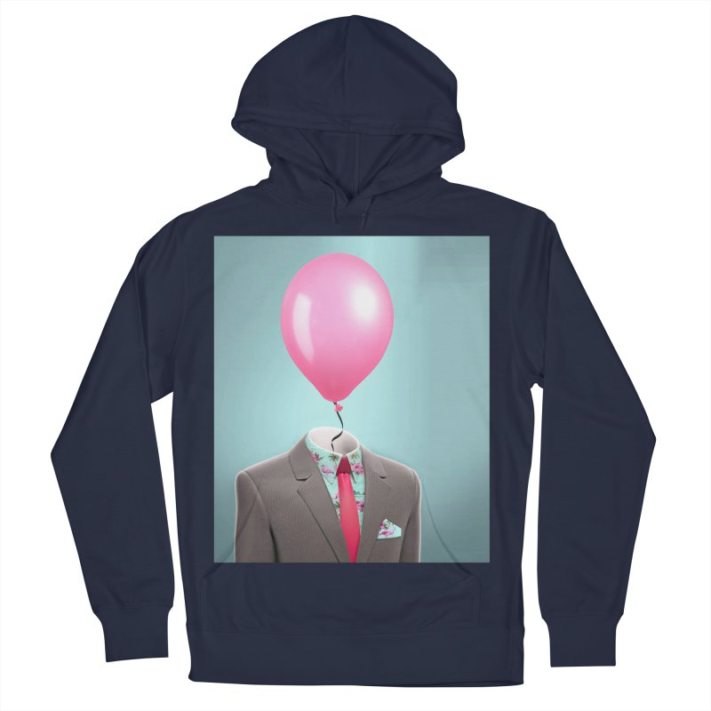 Balloon head and Flamingo shirt Women's French Terry Pullover Hoody by Vin Zzep's Artist Shop
