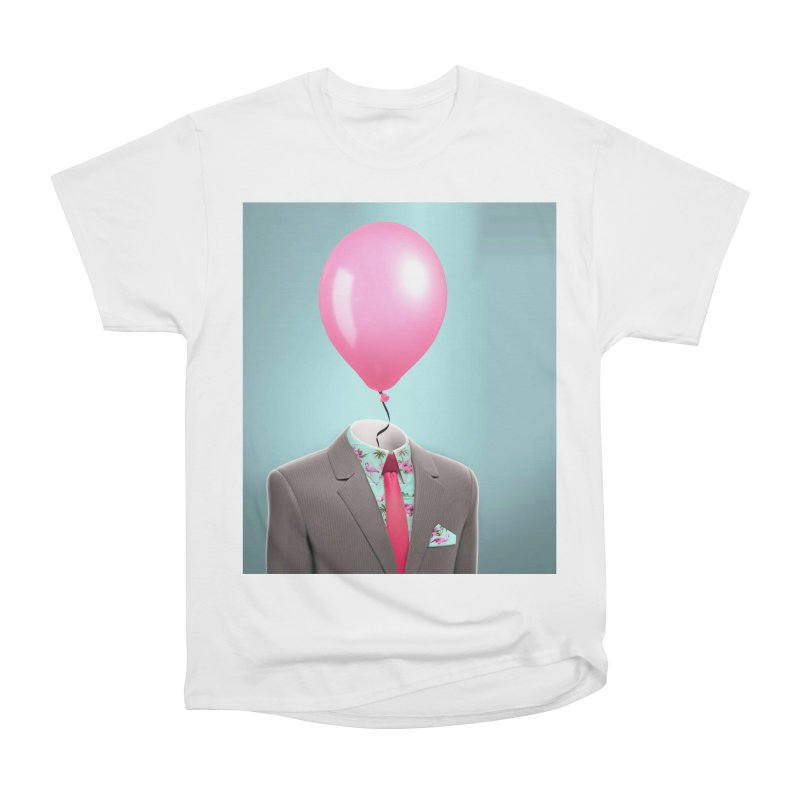 Balloon head and Flamingo shirt Men's Heavyweight T-Shirt by Vin Zzep's Artist Shop