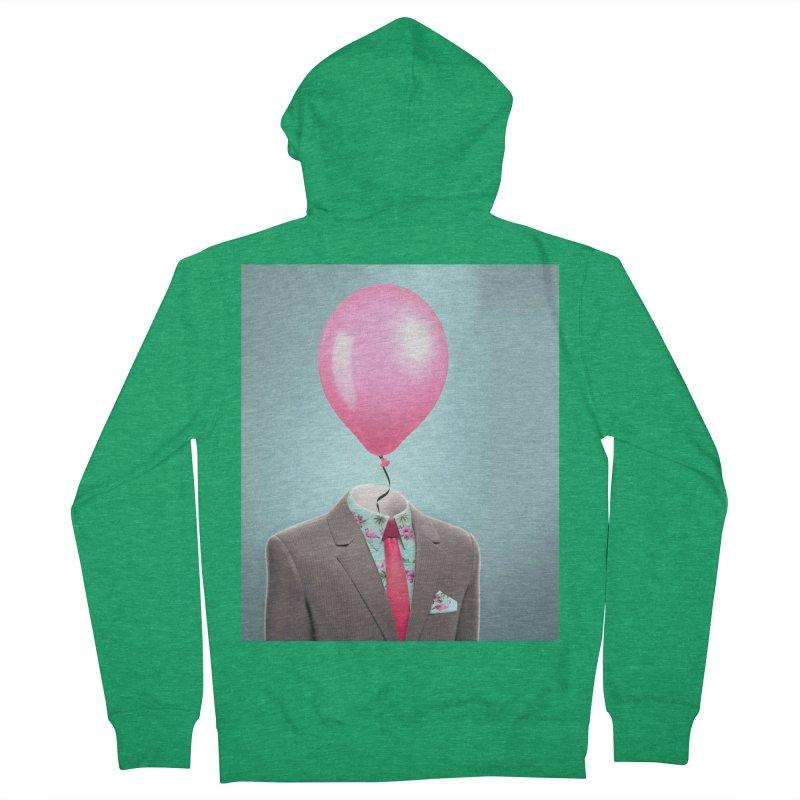 Balloon head and Flamingo shirt Women's Zip-Up Hoody by Vin Zzep's Artist Shop