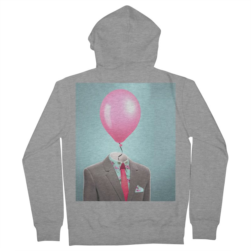 Balloon head and Flamingo shirt Women's French Terry Zip-Up Hoody by Vin Zzep's Artist Shop
