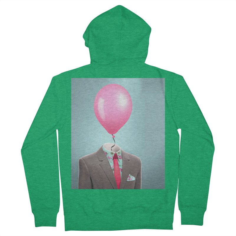 Balloon head and Flamingo shirt Men's Zip-Up Hoody by Vin Zzep's Artist Shop