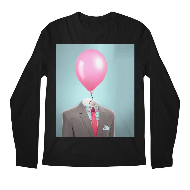 Balloon head and Flamingo shirt Men's Regular Longsleeve T-Shirt by Vin Zzep's Artist Shop
