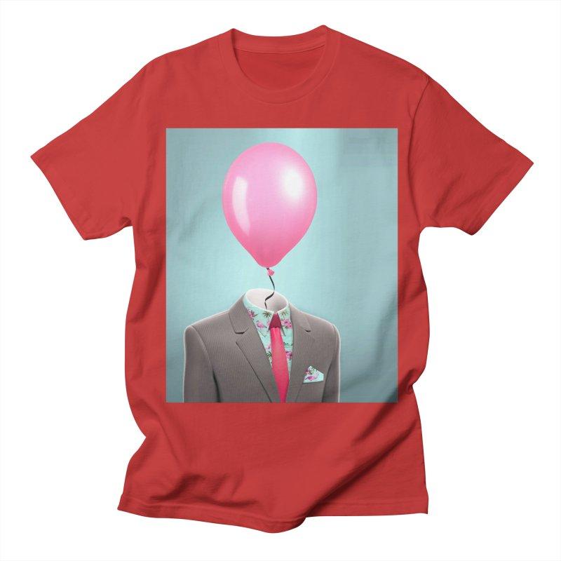 Balloon head and Flamingo shirt Women's Regular Unisex T-Shirt by Vin Zzep's Artist Shop