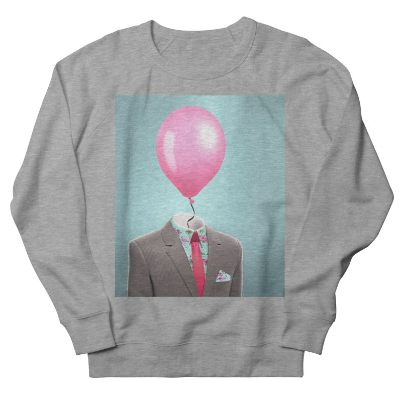Balloon head and Flamingo shirt Women's French Terry Sweatshirt by Vin Zzep's Artist Shop