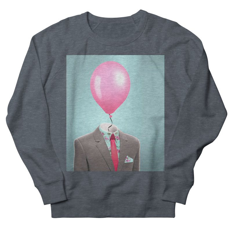 Balloon head and Flamingo shirt Men's French Terry Sweatshirt by Vin Zzep's Artist Shop