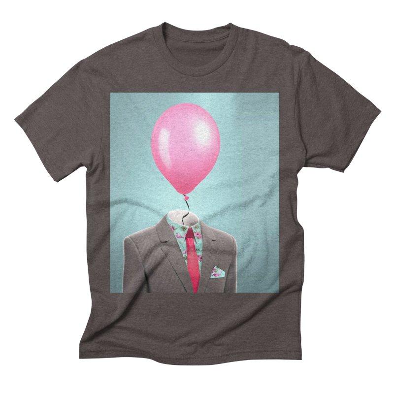 Balloon head and Flamingo shirt Men's Triblend T-Shirt by Vin Zzep's Artist Shop