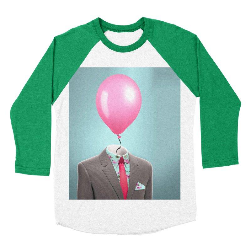 Balloon head and Flamingo shirt Women's Baseball Triblend Longsleeve T-Shirt by Vin Zzep's Artist Shop