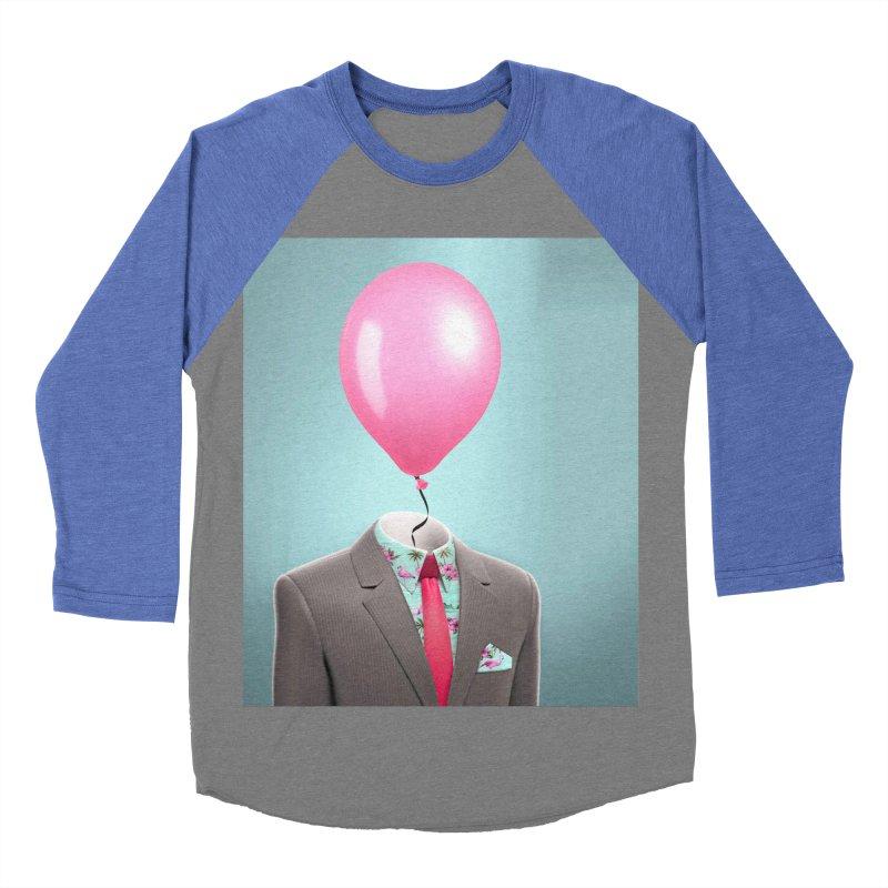 Balloon head and Flamingo shirt Men's Baseball Triblend Longsleeve T-Shirt by Vin Zzep's Artist Shop