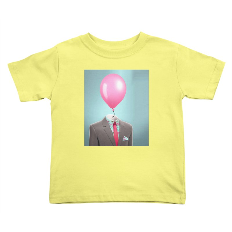 Balloon head and Flamingo shirt Kids Toddler T-Shirt by Vin Zzep's Artist Shop