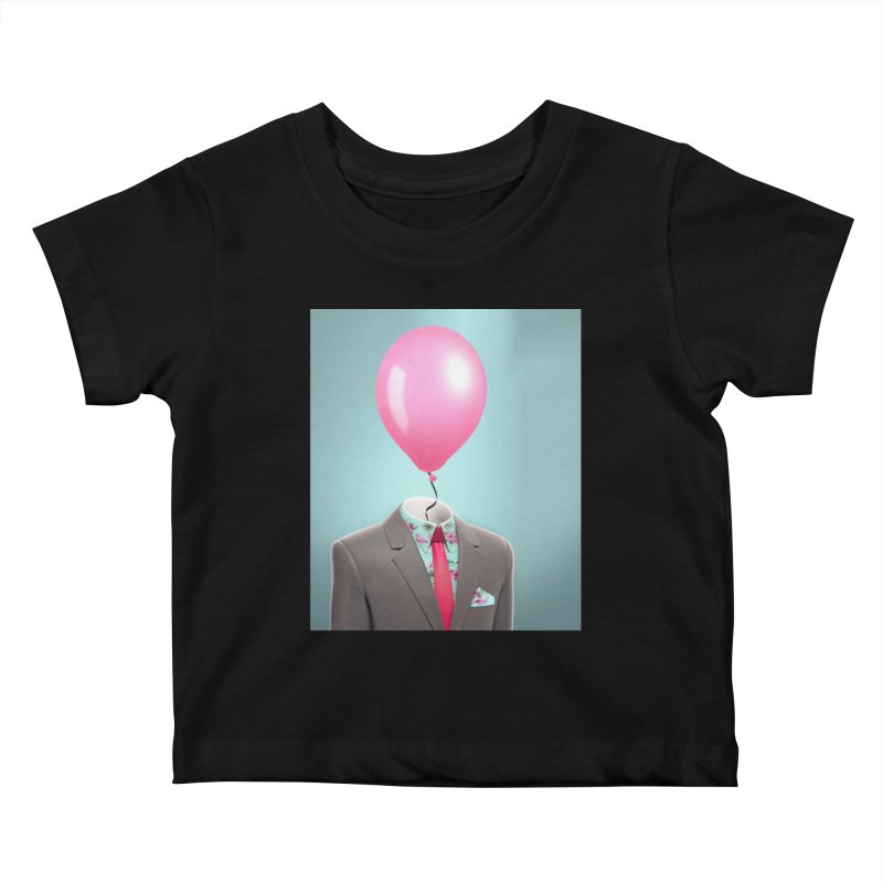Balloon head and Flamingo shirt Kids Baby T-Shirt by Vin Zzep's Artist Shop