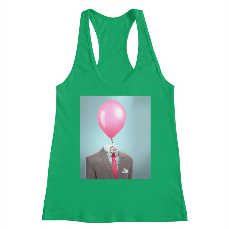 Balloon head and Flamingo shirt Women's Tank by Vin Zzep's Artist Shop