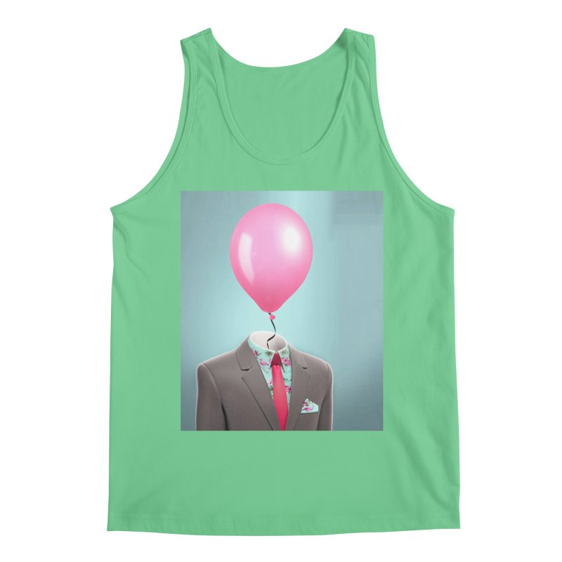 Balloon head and Flamingo shirt Men's Regular Tank by Vin Zzep's Artist Shop