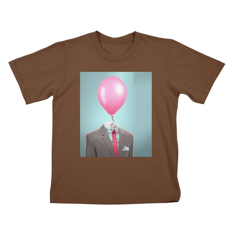 Balloon head and Flamingo shirt Kids T-Shirt by Vin Zzep's Artist Shop