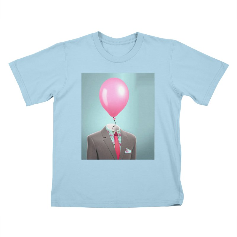 Balloon head and Flamingo shirt Kids T-Shirt by Vin Zzep's Artist Shop