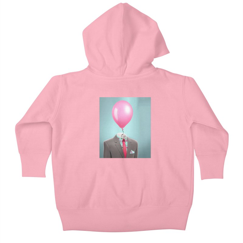 Balloon head and Flamingo shirt Kids Baby Zip-Up Hoody by Vin Zzep's Artist Shop