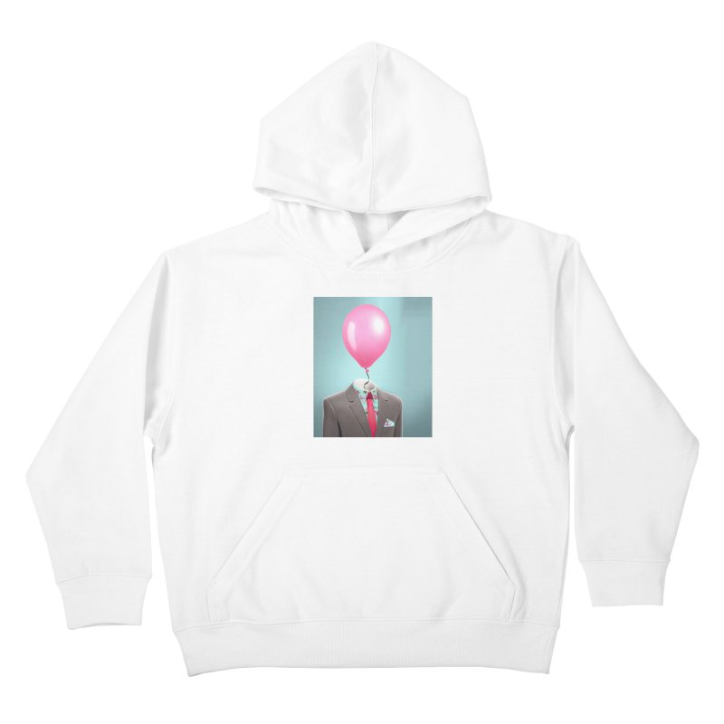 Balloon head and Flamingo shirt Kids Pullover Hoody by Vin Zzep's Artist Shop