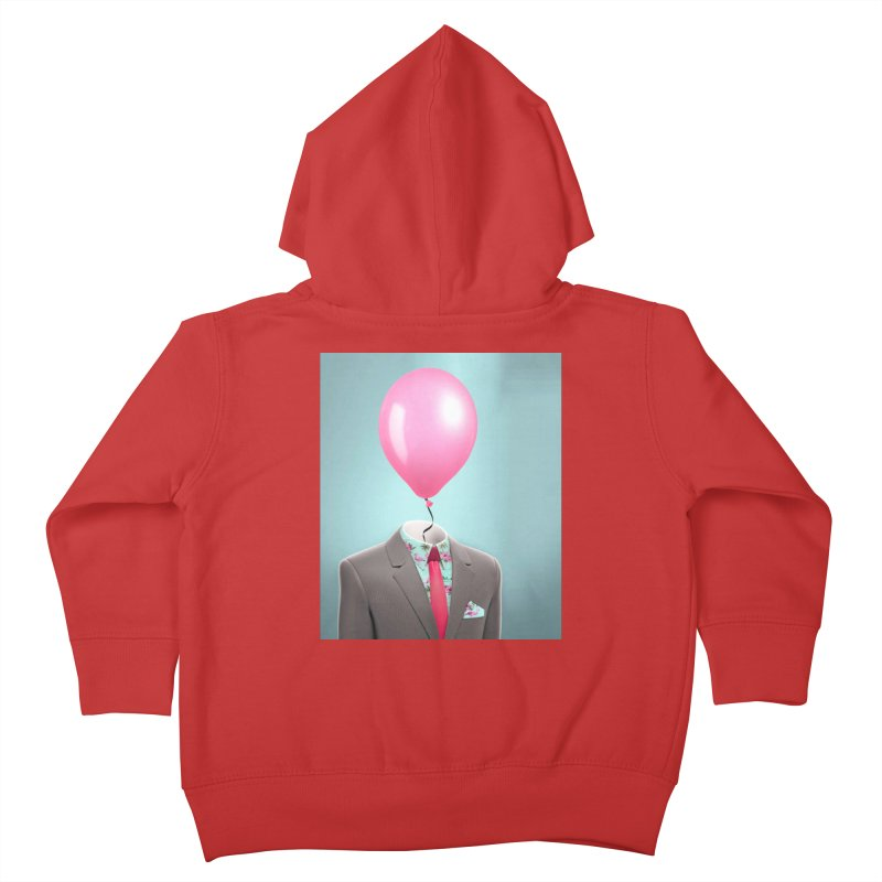 Balloon head and Flamingo shirt Kids Toddler Zip-Up Hoody by Vin Zzep's Artist Shop