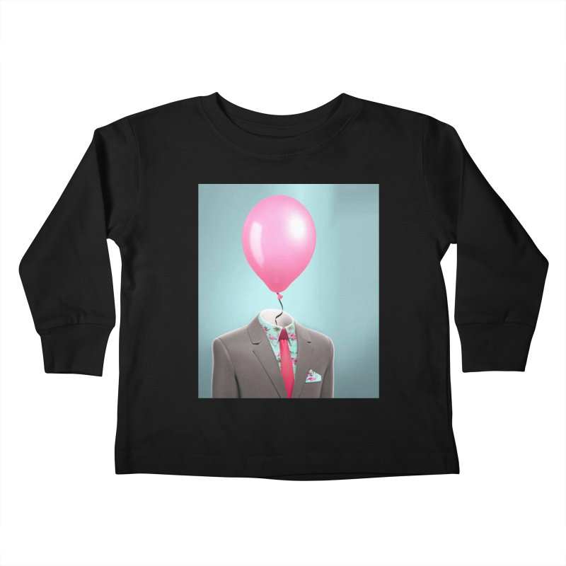 Balloon head and Flamingo shirt Kids Toddler Longsleeve T-Shirt by Vin Zzep's Artist Shop