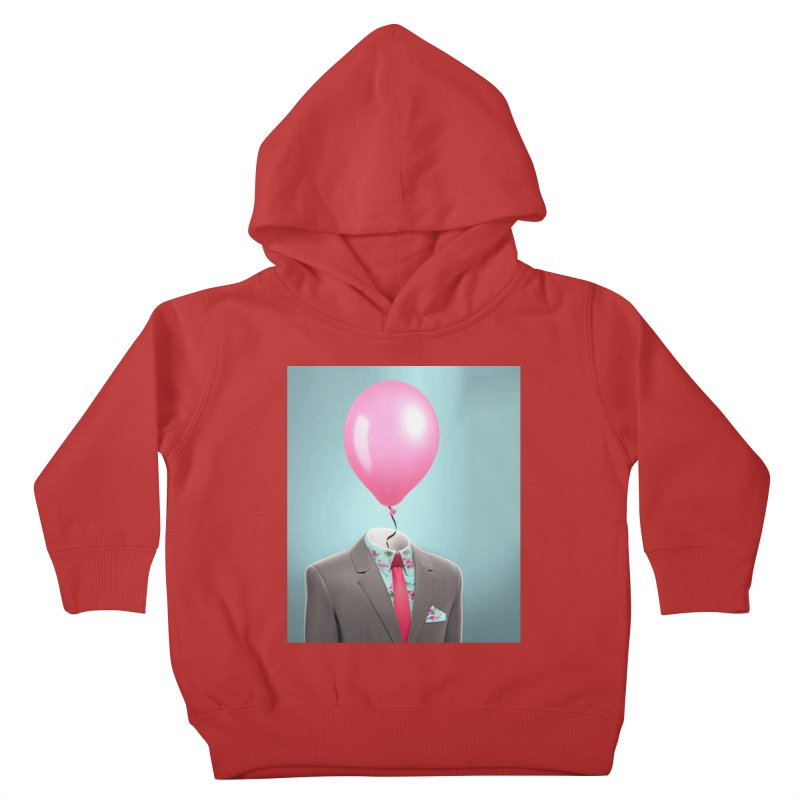 Balloon head and Flamingo shirt Kids Toddler Pullover Hoody by Vin Zzep's Artist Shop